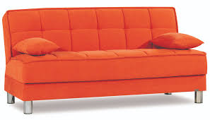 smart fit orange convertible sofa by casamode