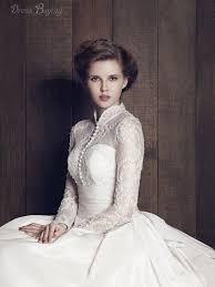 wedding dress high high collar wedding dress