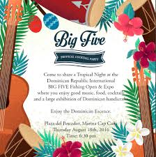 cap cana blog upcoming events big five tropical cocktail party