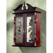 Wall Curio Cabinet Glass Doors Wall Mounted Curio Cabinet With Glass Doors Http Triptonowhere