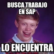 Sap Memes - meme bad luck brian busca trabajo en sap lo encuentra 1662134