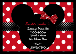 Free Printable Minnie Mouse Invitation Template by Birthday Invites Outstanding Minnie Mouse Birthday Invitations