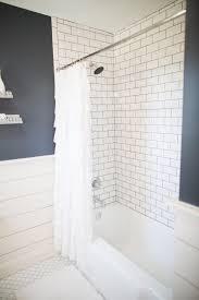 fixer upper bathtub surround pink tiles and custom vanity