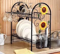 kitchen decor themes ideas sunflower kitchen decor theme ideas with sunflower dish rack
