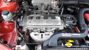 toyota motor toyota starlet 4e fe engine youtube