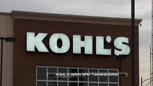 kohl s to be open at 5 pm on thanksgiving day