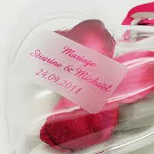 etiquettes mariage etiquettes transparentes dragées x30 etiquette à dragées