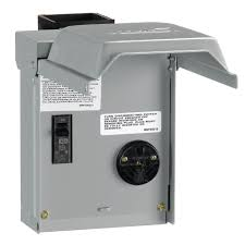 ge 30 amp temporary rv power outlet with breaker u013cp the home