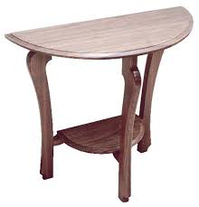 half table for kitchen half moon table canadian woodworking magazine contemporary tables in