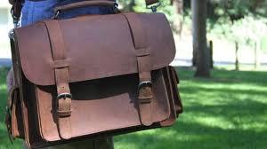 ledermann rugged leather briefcase messenger bag backpack review