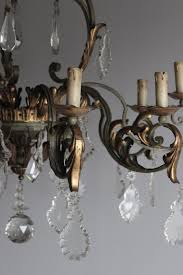 large chalet style antique chandelier
