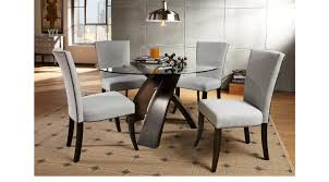 ebony table and chairs del mar ebony 5 pc round dining set dining room sets black