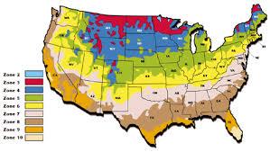 Gardening Zones Usa Map - us hardiness zone map 2017