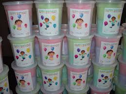 cotton candy party favor 2 5 oz of cotton candy with label for birthday party