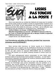 fermeture des bureaux de poste manif et rassemblement contre la fermeture partielle du bureau de