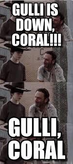 Carl Walking Dead Meme - gulli is down coral carl walking dead meme on memegen