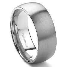band ring titanium 8mm dome wedding band ring