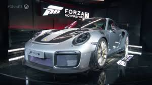 first porsche ever made 2018 porsche 911 gt2 rs revealed along with forza motorsport 7