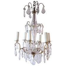 Bronze And Crystal Chandeliers French Pair Of Gilded Bronze And Crystal Antique Chandeliers For
