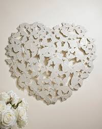 3d butterfly heart wall art fashion world