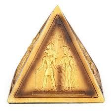 gold pyramid ornament