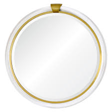 Accents Home Decor Round Lucite Mirror With Gold Accents Home Decor Mirrors