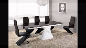 White Glass Kitchen Table by Extending White High Gloss Black Glass Dining Table And 8 Chairs
