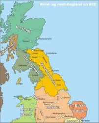 Map Og Map Of Northumbria England London Map