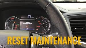 reset maintenance 2016 honda pilot oil life change reset youtube