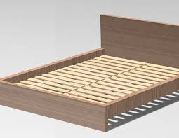 Malm Bed Frame Ikea Malm Bedframe 3d Cad Model Library Grabcad