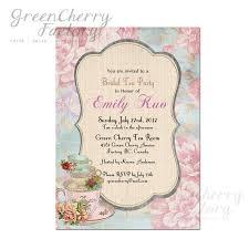 Get Together Party Invitation Card Vintage Theme Bridal Shower Bridal Shower High Tea Invitation