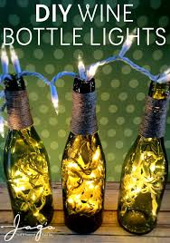 diy with wine wine bottle lights