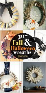 20 diy fall and halloween wreaths lil u0027 luna