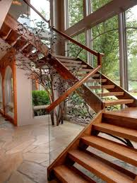 Wood Glass Stairs Design Elegant Laminated Wooden Staircase Design Ideas With Glass Railing