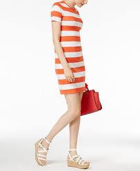 michael michael kors striped t shirt dress dresses women macy u0027s