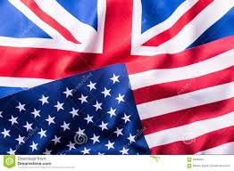 Flag Of The Uk Mixed Flags Of The Usa And The Uk Union Jack Flag Stock Image