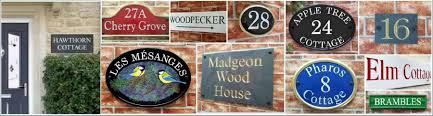 Decorative Name Plates For Home House Signs House Name U0026 Number Plaques By Yoursigns Ltd