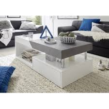 White Coffee Tables Atena Ii White Coffee Table With Concrete Imitation Top Coffee