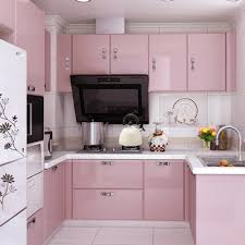 removable wallpaper for kitchen cabinets yazi gloss pink vinyl sticker self adhesive removable pvc waterproof