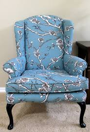 How Much Fabric To Upholster A Sofa Modest Maven Vintage Blossom Wingback Chair