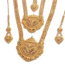 bridal necklace set gold images Gold and diamond jewellery designs gold heavy bridal necklace sets jpg