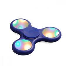 fidget spinner light up blue led light up push button switch fidget spinner stress reducer toy blue