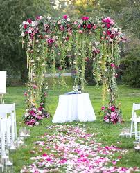 Garden Wedding Ceremony Ideas Floral Wedding Decor Hanging Floral Garden Wedding Ceremony