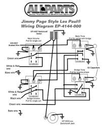 wiring kit for gibson jimmy page les paul complete w diagram pots