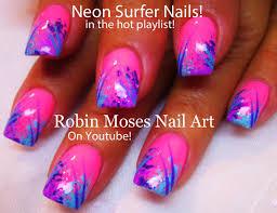 24 neon pink nail designs zebra print on pink nails neon