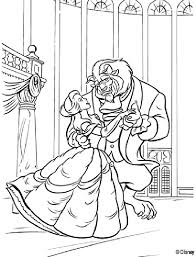 beauty beast coloring pages kids coloring