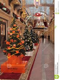 Decoration Christmas Shop hermes shop christmas decoration editorial stock photo image