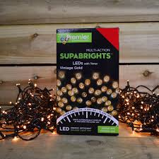 200 led 20m premier supabright led christmas lights with timer