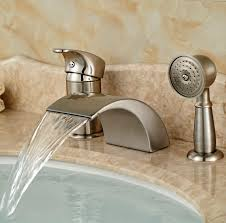 bathroom faucet with led light waterfall bath faucets padlords us