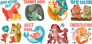 mothers day stickers thankful emoji for s day techandburgers